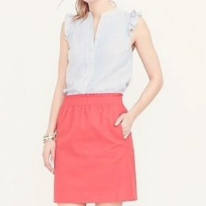 J. CREW FACTORY CORAL SIDEWALK LINEN CIRCLE SKIRT
